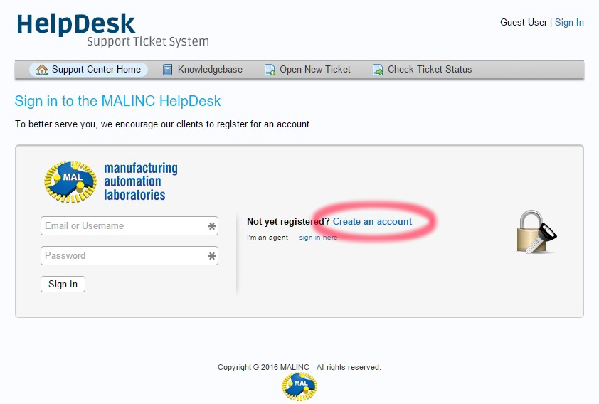 Helpdesk Quick Guide – MAL Inc